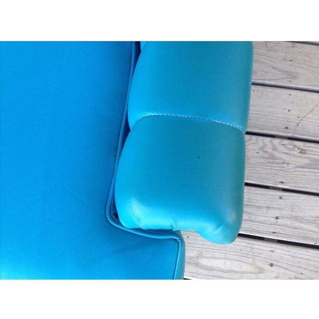 Mid-Century Modern Turquoise Sofa - Image 7 of 11