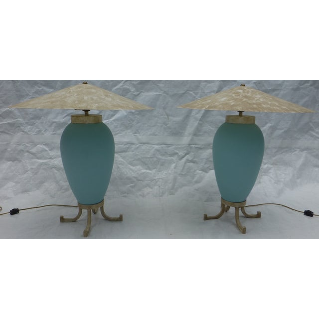 Image of Karl Springer Murano Glass Table Lamps - A Pair