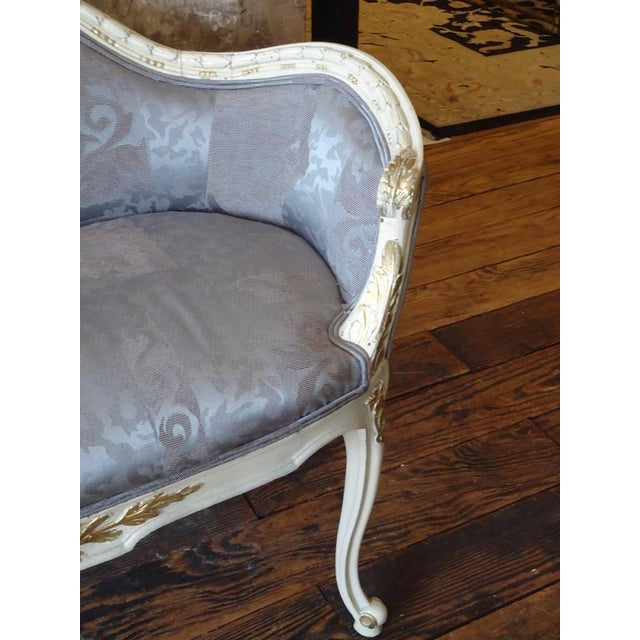 Antique French Small Settee Loveseat - Image 5 of 7