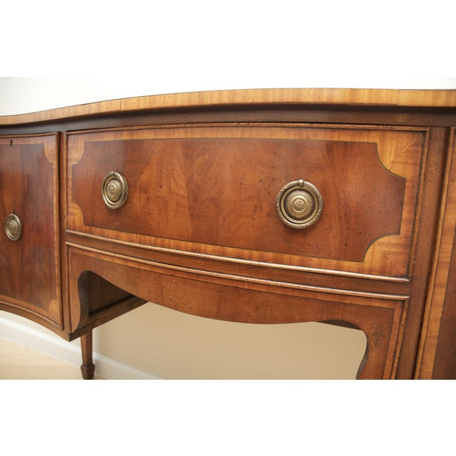 Antique Mahogany Serpentine Buffet Sideboard - Image 8 of 10