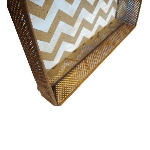 Image of Mirrored Gold Chevron Tray