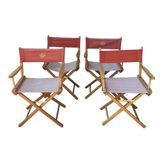Campaign Style Cotton Royal Oak Chairs- Set of 4