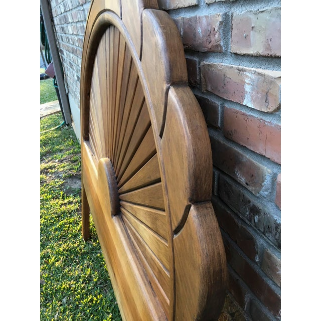 Carved Wood Full Sized Headboard - Image 4 of 4