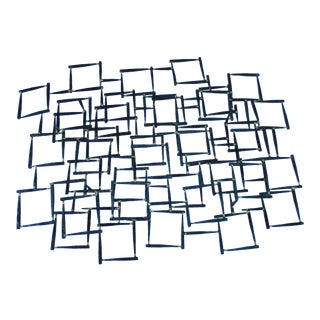 Modernist Abstract Brutalist Iron Nail Sculpture Wall Art