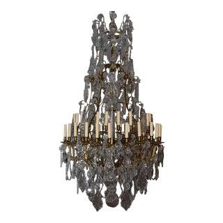 Antique chandelier, crystal
