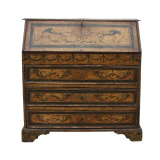 Italian Baroque Painted Desk