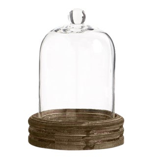 Glass Cloche and Round Mirrored Base