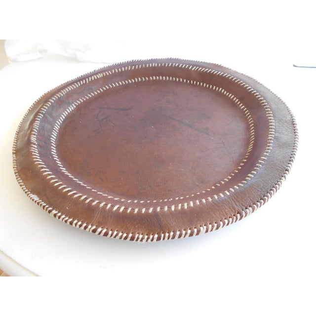 Hand Stitched Leather Tray - Image 2 of 6