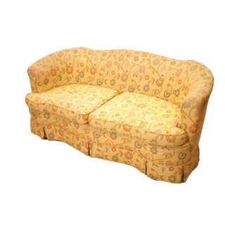 Yellow Floral Loveseat