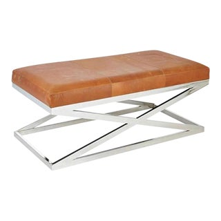 Taylor Burke Home Contemporary Chrome X Bench