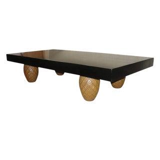 Oversized Coffee Table w/ Pineapple Legs