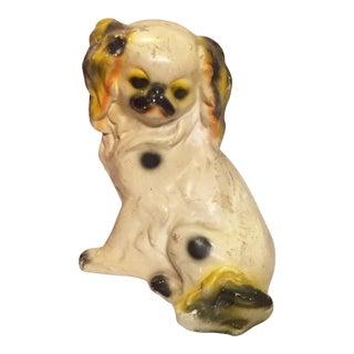 Staffordshire Chalkware Pup Figurine