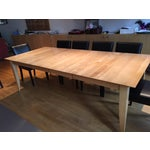 Image of Solid Maple C&B Dining Table With Two Leaves