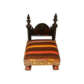 Superb Old Indian Low Chair