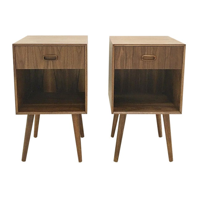 Mid-Century Style Nightstands - A Pair - Image 1 of 3