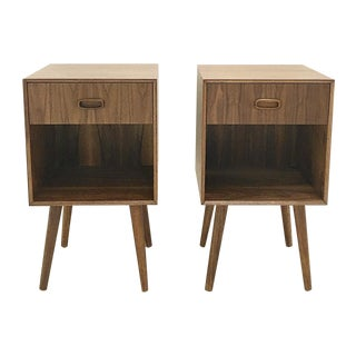 Mid-Century Style Nightstands - A Pair