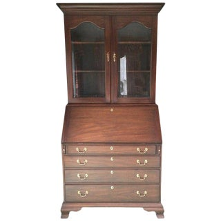 Classic Mahogany Chest on Chest or Secretary by Henkel Harris