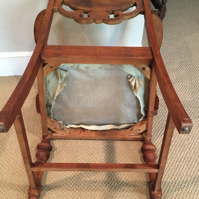 Carved Mahogany Armchair - Image 10 of 11