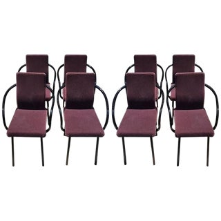 Knoll Ettore Sottsass Set of Eight Mandarin Chairs in Mohair