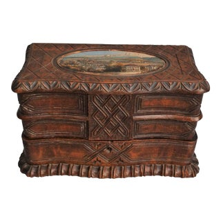 Carved Black Forest Jewelry Chest