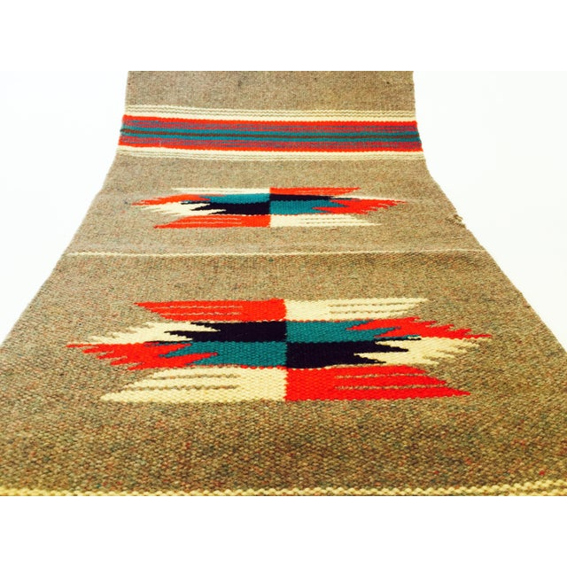 Vintage Gray Mexican Rug - 1′2″ × 2′6″ - Image 3 of 5