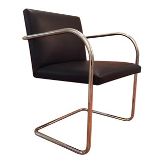 Mies Van Der Rohe Brno Black Leather Chair