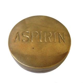 Vintage Brass Pill Box