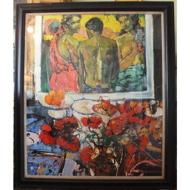 "Image of Peter McLaren Oil Painting ""Homage to Gauguin"""