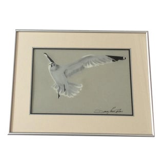 Original Seagull Pastel Artwork