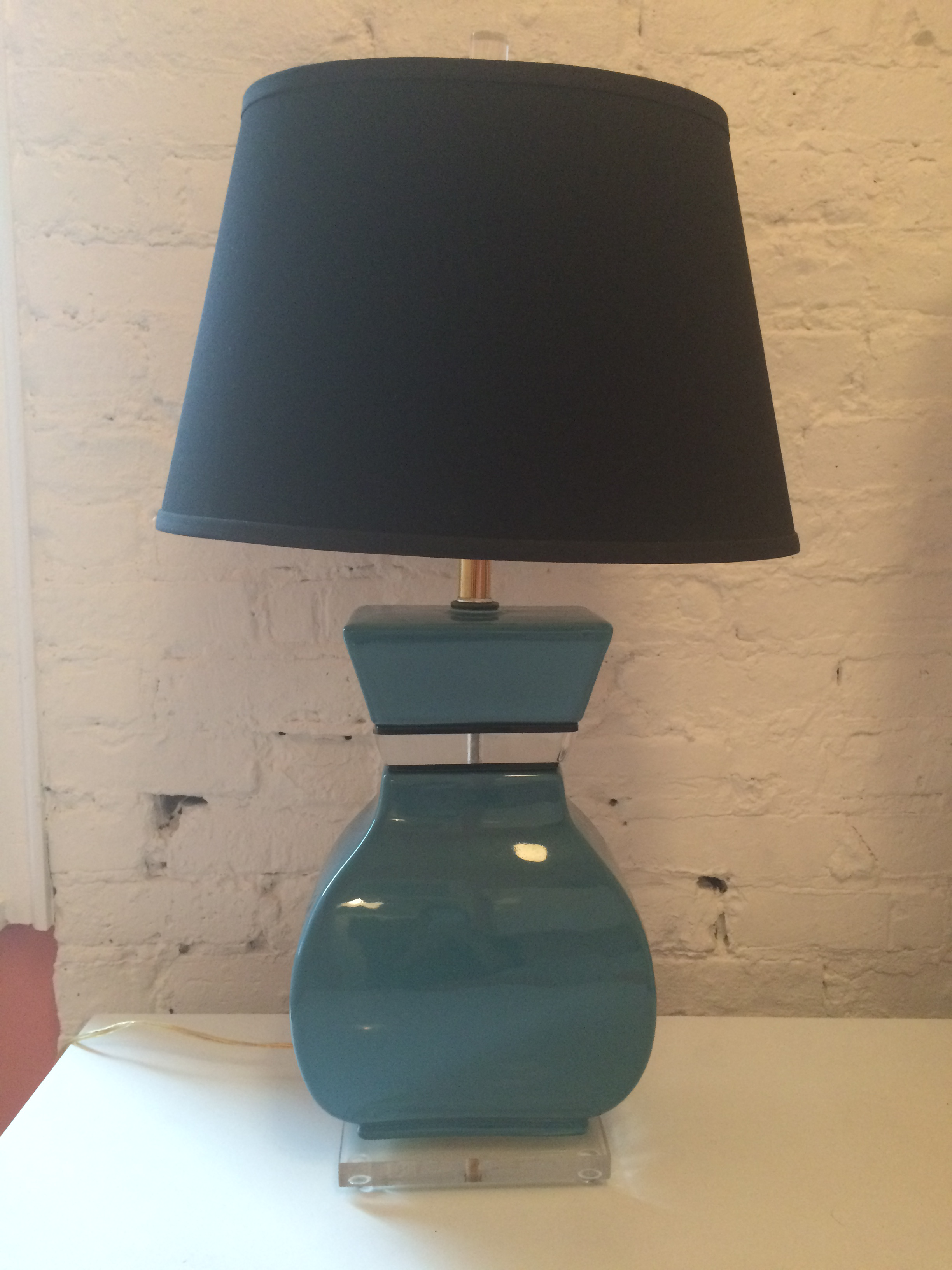 contemporary blue table lamps a pair chairish
