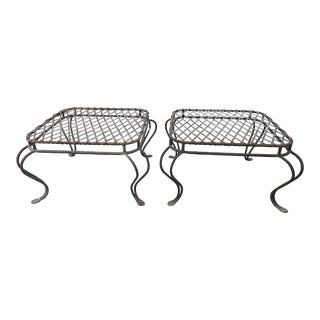 Rose Tarlow Twig Garden Iron Ottomans - A Pair