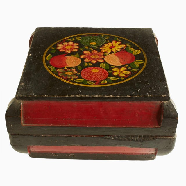 Image of Hand Painted Wooden Box From Malacca, Malaysia