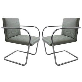 Knoll Brno Tubular Side Chairs - A Pair