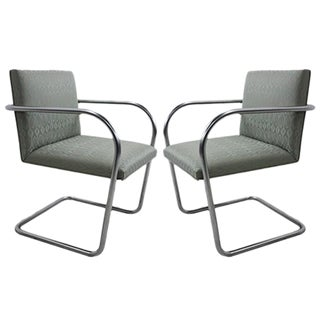 Knoll Brno Tubular Side Chairs - A Pair