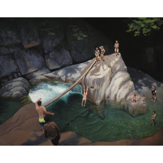 Bathers at a Swimming Hole Painting