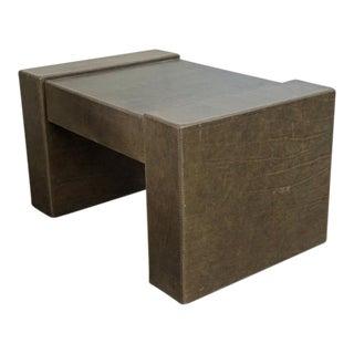 Leather Panel Leg Coffee Table