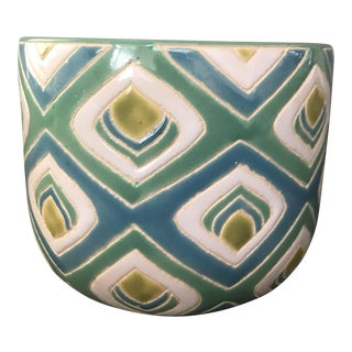 Geometric Pattern Short Vase