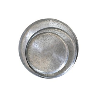 Silver Etched Metal Nesting Trays - 3