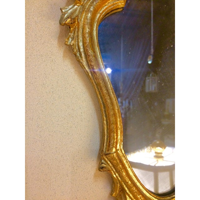 Image of Baroque Style Escutcheon Form Gilt Mirror