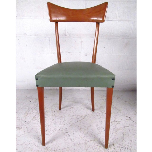 Italian Modern Ico Parisi Style Dining Chairs - Set of 6 - Image 3 of 11