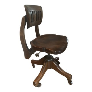 Johnson Chair Company Wooden Office Chair