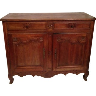19th c. French Provencal Louis XV Walnut Buffet