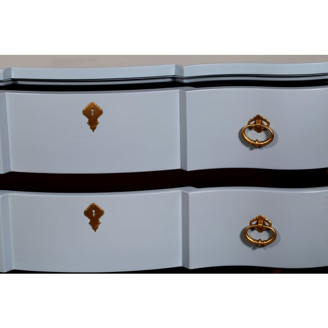 Image of Blue French-Style 4-Drawer Dresser