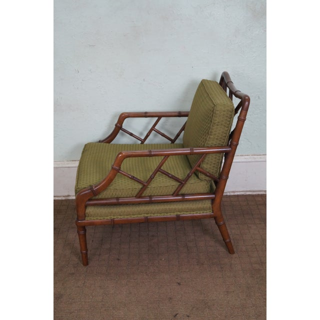 Century Furniture Co. Faux Bamboo Lounge Chair - Image 3 of 10