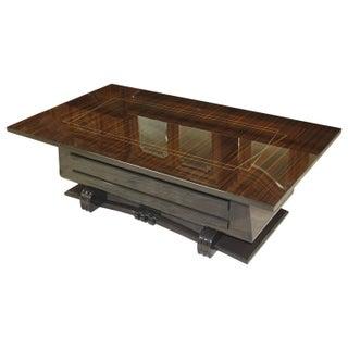 French Art Deco Macassar Ebony Coffee Table