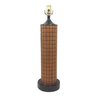 Danish Teak Grid Table Lamp