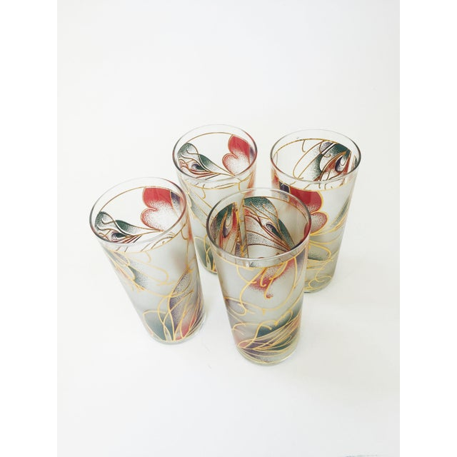 Vintage Abstract Pastel Culver Tumblers - Set of 4 - Image 3 of 6