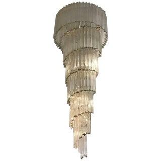 Venini Italian Mid-Century Murano Glass Chandelier