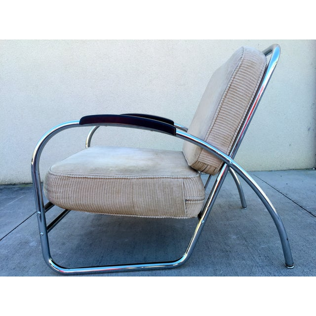 Kem Weber Style Deco Chrome Chair by Royal Metal - Image 5 of 11