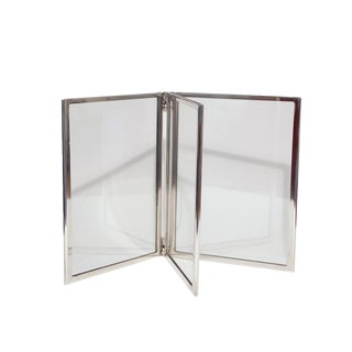 Silver Plate Three-Panel Frame